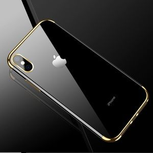Accessories - 🆕 HD Clear Gold Edge IPhone X Case